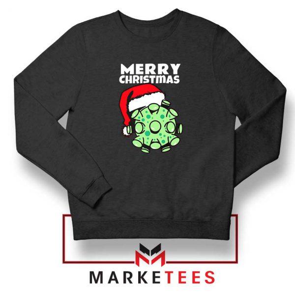 Merry Christmas Corona Black Sweatshirt