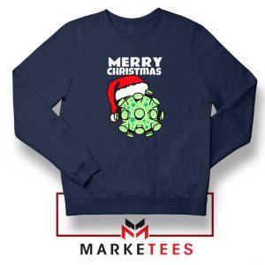 Merry Christmas Corona Navy Blue Sweatshirt