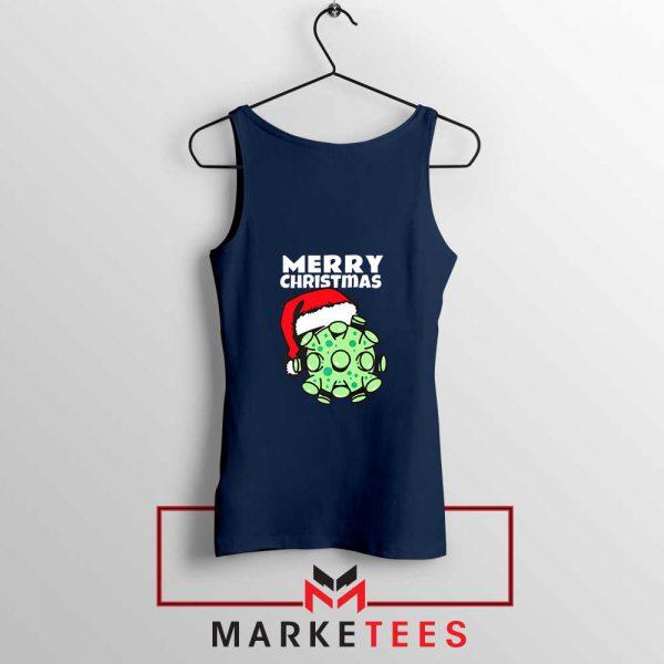 Merry Christmas Corona Navy Blue Tank Top