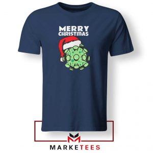 Merry Christmas Corona Navy Blue Tshirt