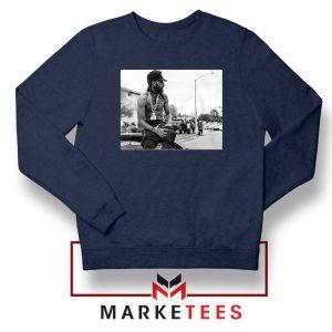 Nipsey Boulevard Navy Blue Sweatshirt