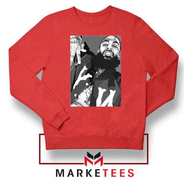 Nipsey Hussle Hip Hop Red Sweatshirt