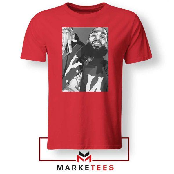 Nipsey Hussle Hip Hop Red Tshirts