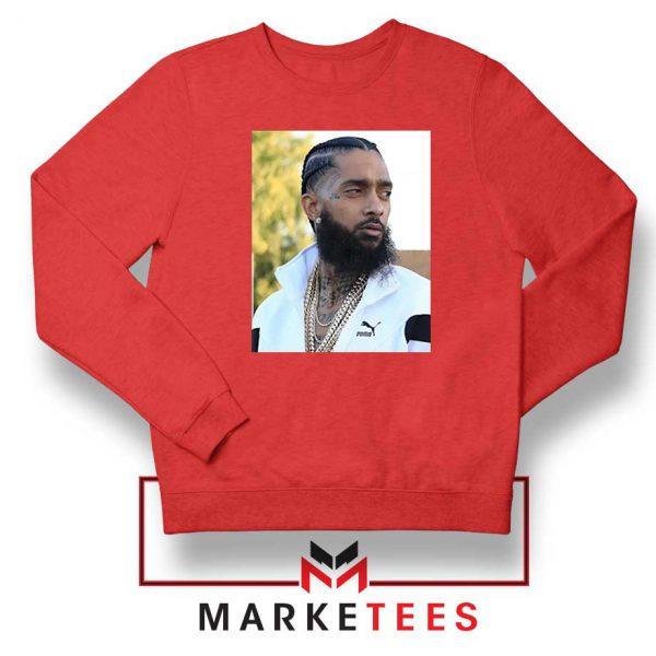 Nipsey Hussle Puma Red Sweatshirt