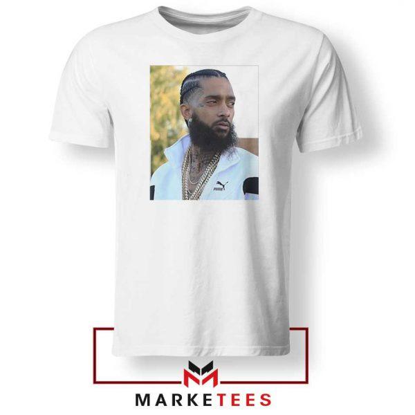 Nipsey Hussle Puma White Tshirt