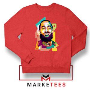 Nipsey Hussle RIP Raper Red Sweatshirt
