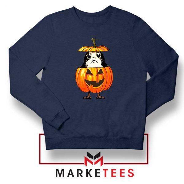 Porg Pumpkin Navy Blue Sweatshirt