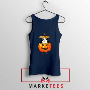 Porg Pumpkin Navy Blue Tank Top