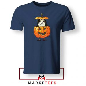 Porg Pumpkin Navy Blue Tshirt