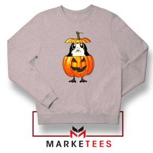 Porg Pumpkin Sport Grey Sweatshirt