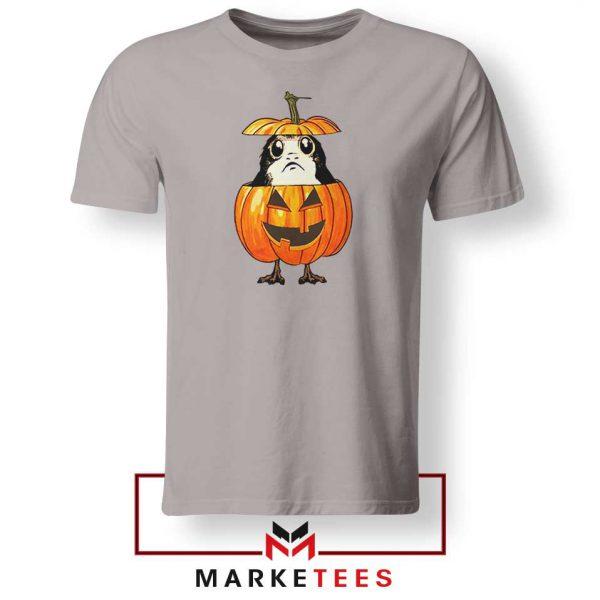 Porg Pumpkin Sport Grey Tshirt