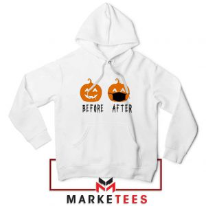 Pumpkin Before After Hoodie Halloween