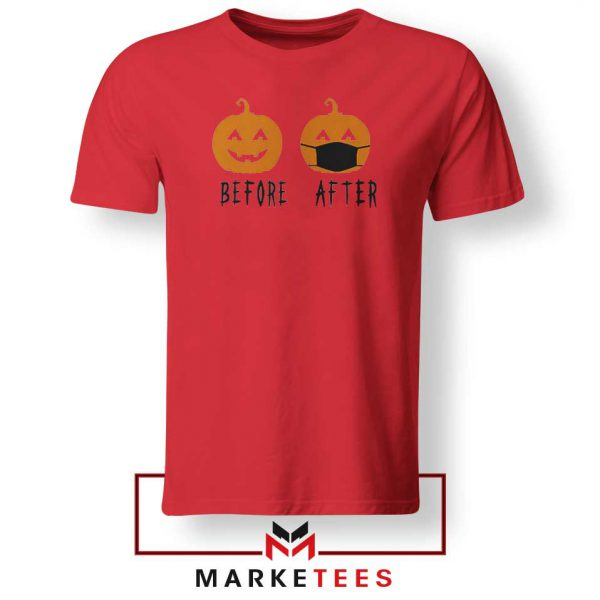 Pumpkin Before After Red Tshirt