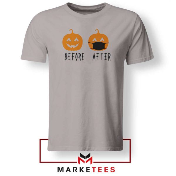 Pumpkin Before After Sport Grey Tshirt