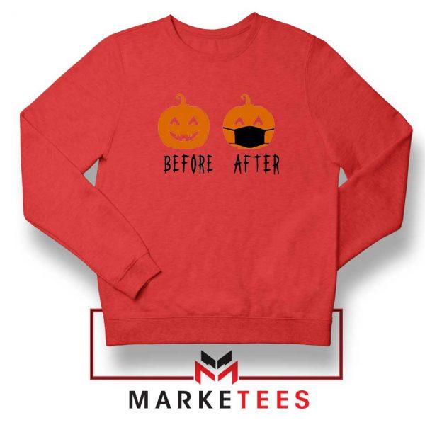 Pumpkin Before After red Sweatshirt