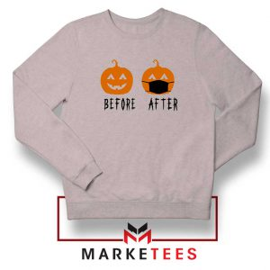 Pumpkin Before After sport grey Sweatshirt
