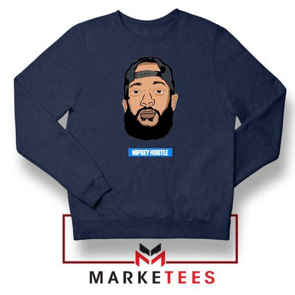 RIP NIpsey Hustle Navy Blue Sweatshirt