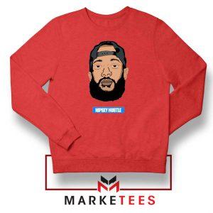 RIP NIpsey Hustle Red Sweatshirt
