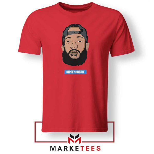 RIP NIpsey Hustle Red Tshirt