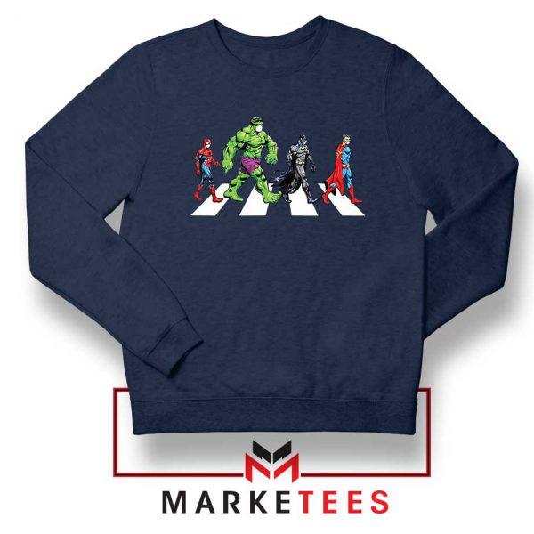 Superheroes Corona Virus Navy Blue Sweatshirt