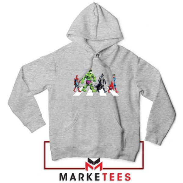 Superheroes Corona Virus Sport Grey Hoodie