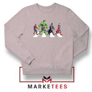 Superheroes Corona Virus Sport Grey Sweatshirt