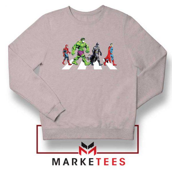 Superheroes Corona Virus Sport Grey Sweatshirt