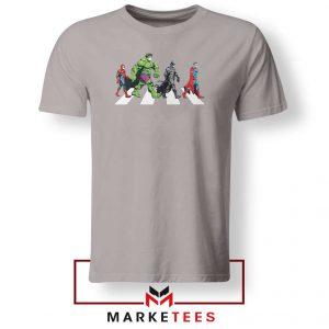 Superheroes Corona Virus Sport Grey Tshirt