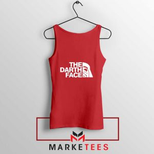 The Darth Face Red Tank Top