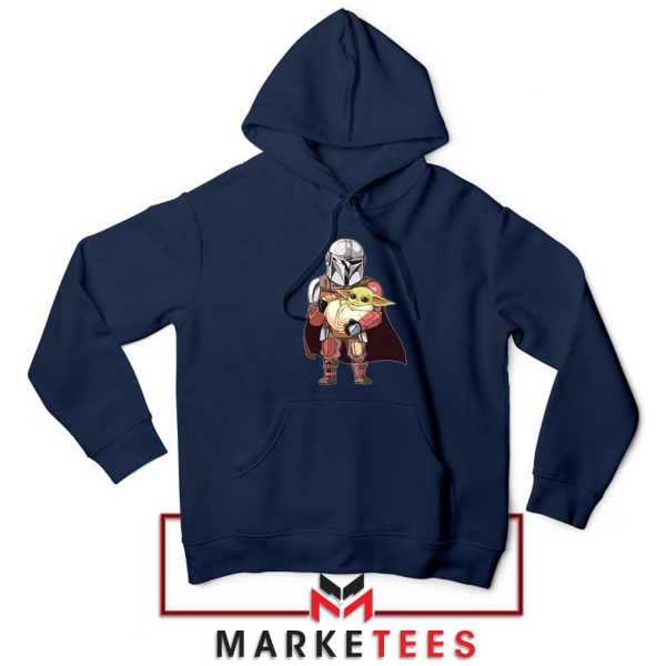 The Mandalorian Lovely Yoda Navy Blue Hoodie