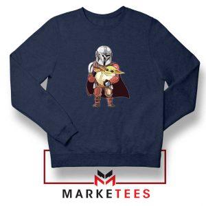 The Mandalorian Lovely Yoda Navy Blue Sweatshirt