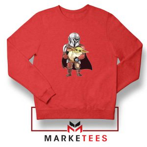 The Mandalorian Lovely Yoda Red Sweatshirt