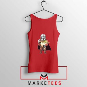 The Mandalorian Lovely Yoda Red Tank Top