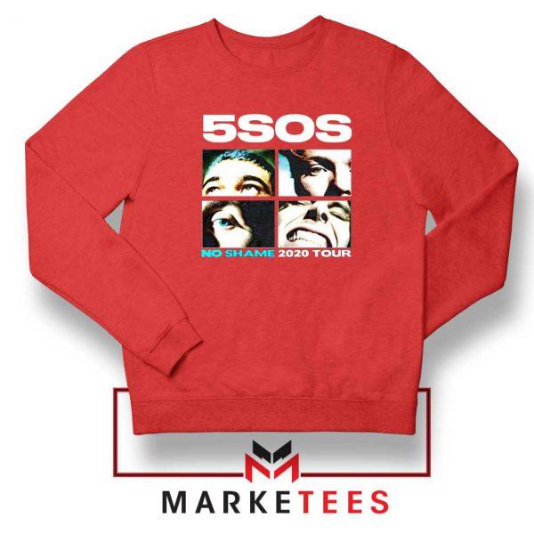 5SOS No Shame 2020 Tour Red Sweatshirt