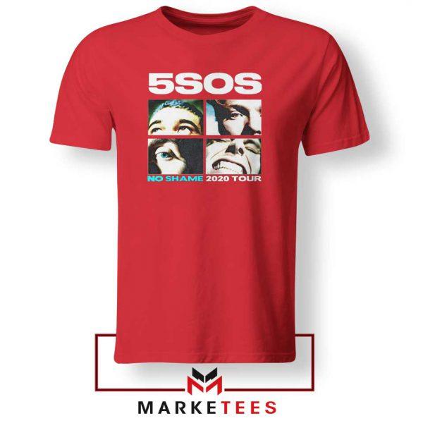 5SOS No Shame 2020 Tour Red Tshirt