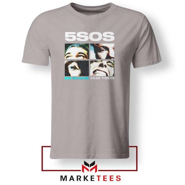5SOS No Shame 2020 Tour Sport Grey Tshirt