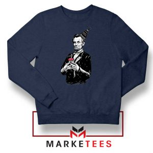 Abraham Lincoln Birthday Navy Blue Sweatshirt