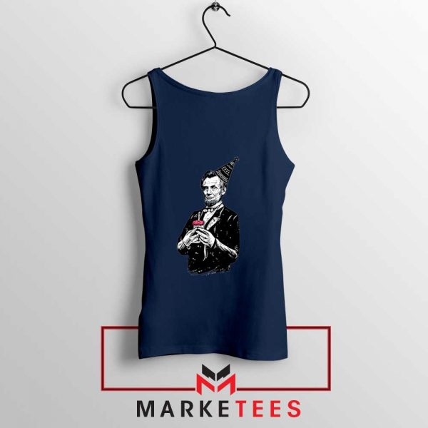 Abraham Lincoln Birthday Navy Blue Tank Top