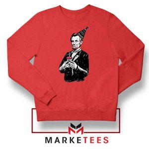Abraham Lincoln Birthday Red Sweatshirt