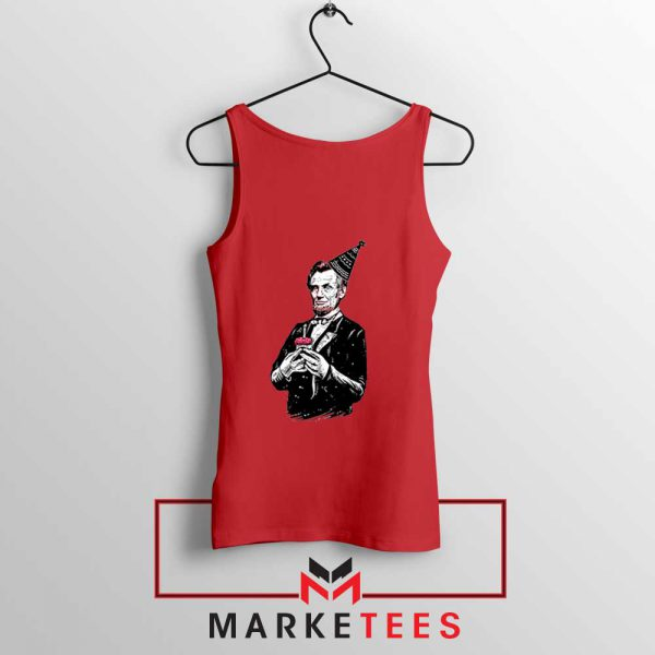 Abraham Lincoln Birthday Red Tank Top