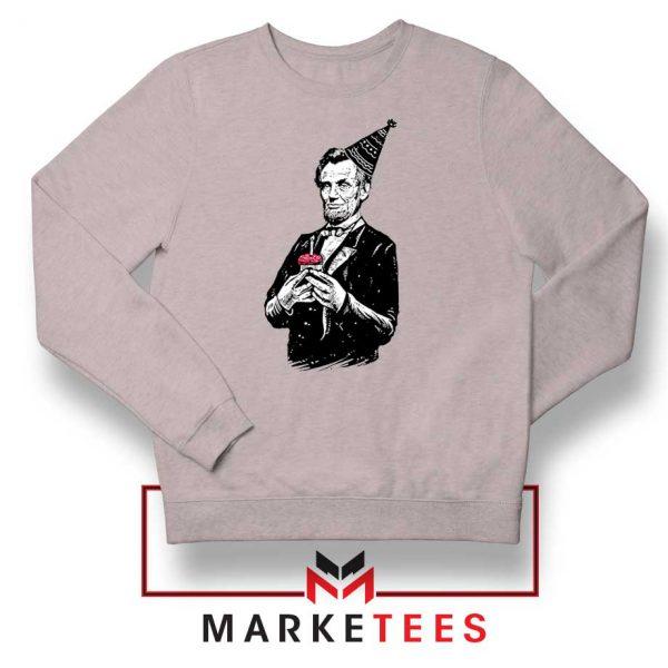 Abraham Lincoln Birthday Sport Grey Sweatshirt