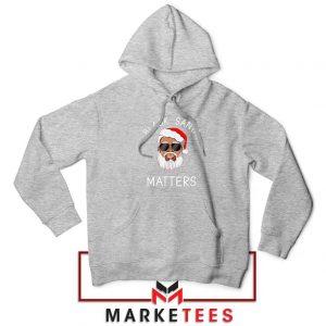 Afro Americans Santa Sport Grey Hoodie