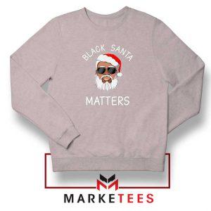 Afro Americans Santa Sport Grey Sweatshirt