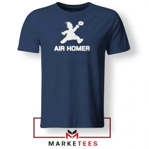 Air Homer Simpson Navy Blue Tshirt
