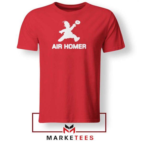 Air Homer Simpson Red Tshirt