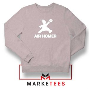 Air Homer Simpson Sport Grey Sweatshirt