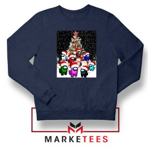 Among Us Christmas Navy Blue Sweatshirt