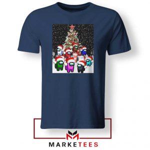Among Us Christmas Navy Blue Tshirt