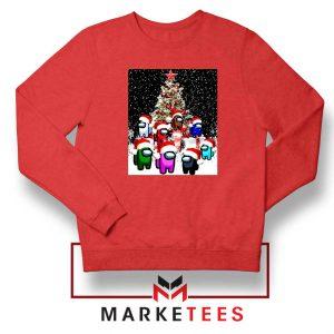 Among Us Christmas Red Sweatshirt