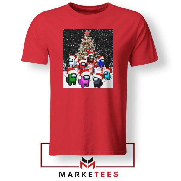 Among Us Christmas Red Tshirt
